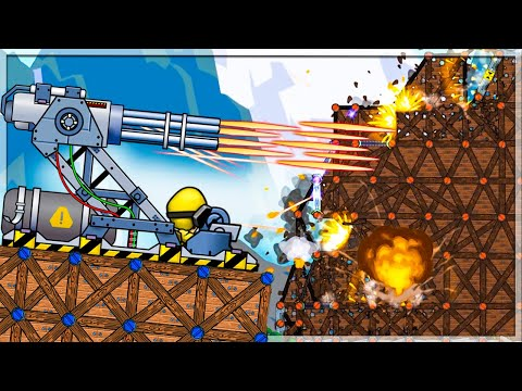 Forts But We Use The ULTRA POWERFUL Minigun Cannon!   Forts Gameplay  