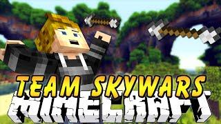 Minecraft ` TEAM SKYWARS! 'KNOCKBACK 20?' w/PrestonPlayz
