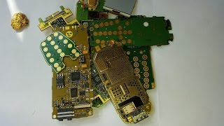 Como extraer ORO de telefonos moviles rotos.Parte 1.How to extract Gold from cell phones.