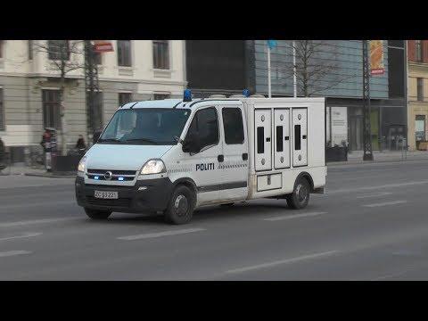 Rare! Copenhagen Police dog unit  responding code 3