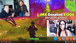 My girlfriend caught me donating to an attractive fortnite streamer... *she was mad*