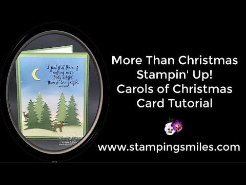 More than Christmas Stampin' Up! Carols of Christmas Card Tutorial
