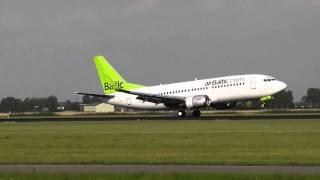 Boeing 737 Classic´s landing at Amsterdam (Polderbaan) [HD]