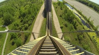Shivering Timbers Wooden Roller Coaster POV Michigans Adventure