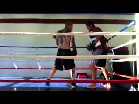 Alan Roach Training with Billy Scheibe 09-2012