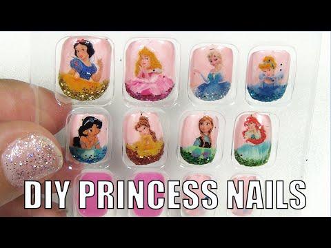 DIY Disney Princess Press On Nails Nail Art Tutorial
