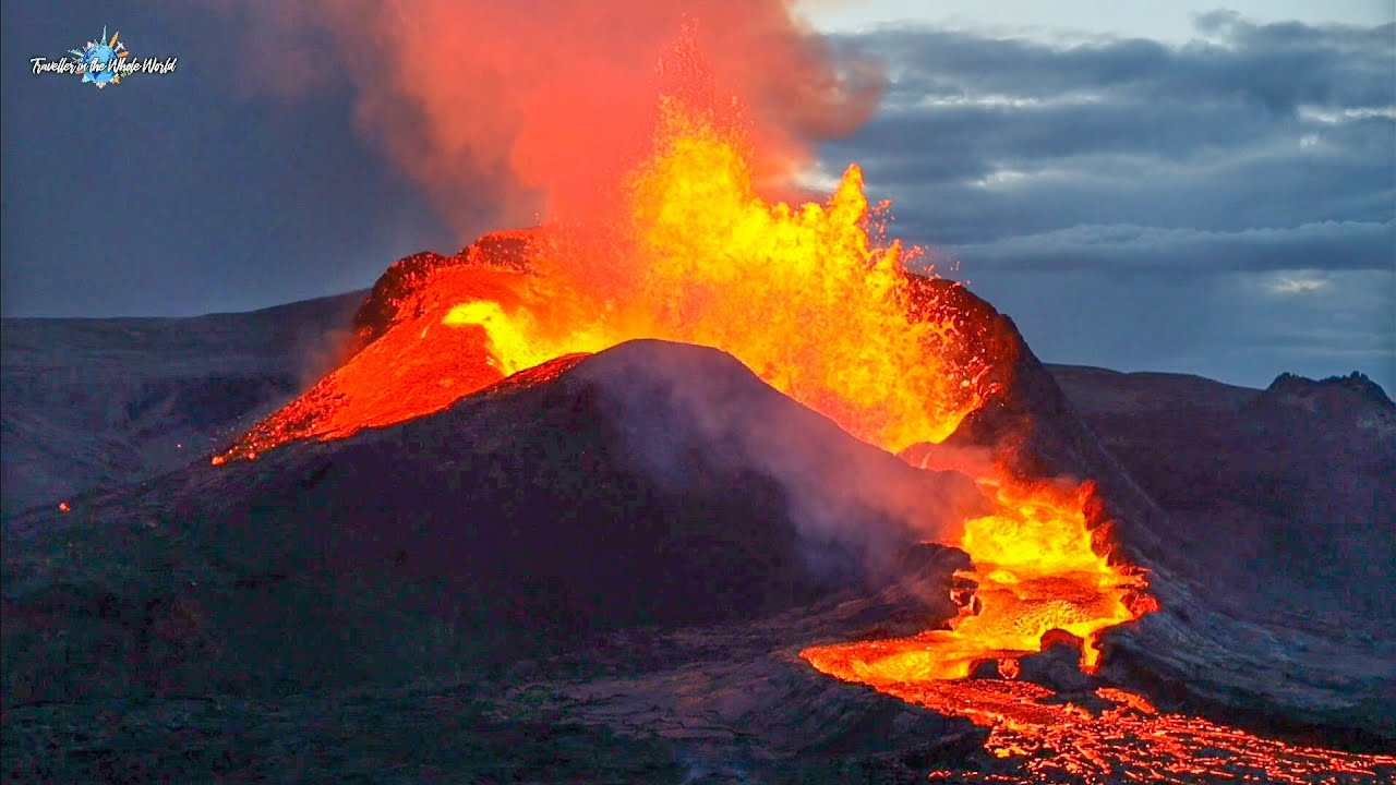 FIRST SEATS AT THE VOLCANO ERUPTION!! ICELAND VOLCANO IN HIS FULL GLORY!! - May 8, 2021