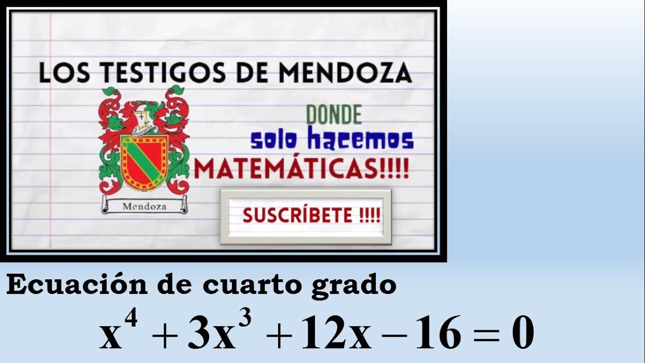 Ecuación de Cuarto Grado. Ejercicio 1 - YouTube