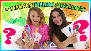 3 MARKER PILLOW CHALLENGE | We Are The Davises