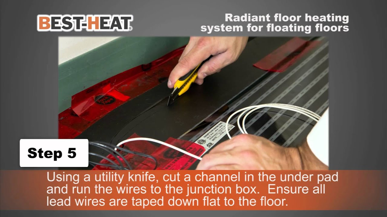 Best Heat best-heat electric heating system for floating floors - youtube