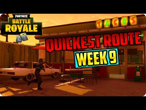 Fortnite: Visit 3 Different Taco Shops In A Single Match - Quickest Route