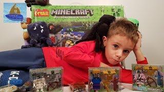Строим Огромную Крепость Майнкрафт на 1200 деталей | Мягкие Мобы и Наша коллекция игрушек Майнкрафт