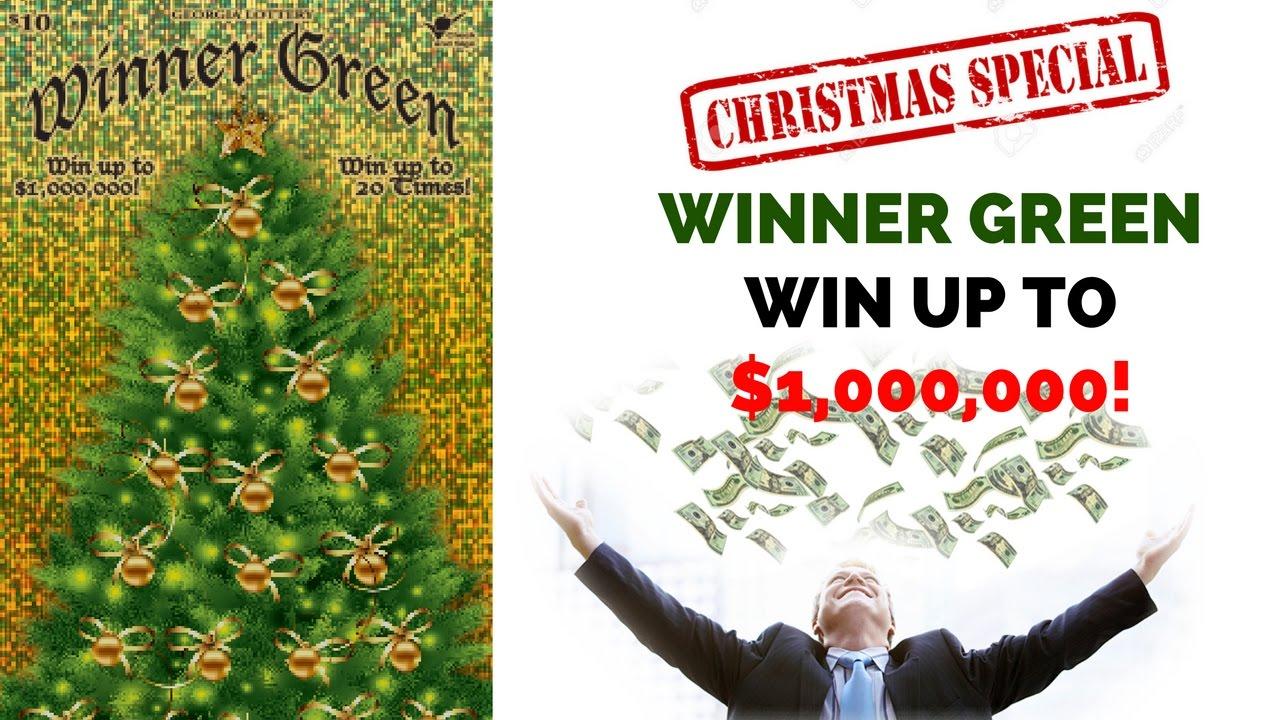 Christmas Tree Winner Green Georgia Lottery!!! - YouTube