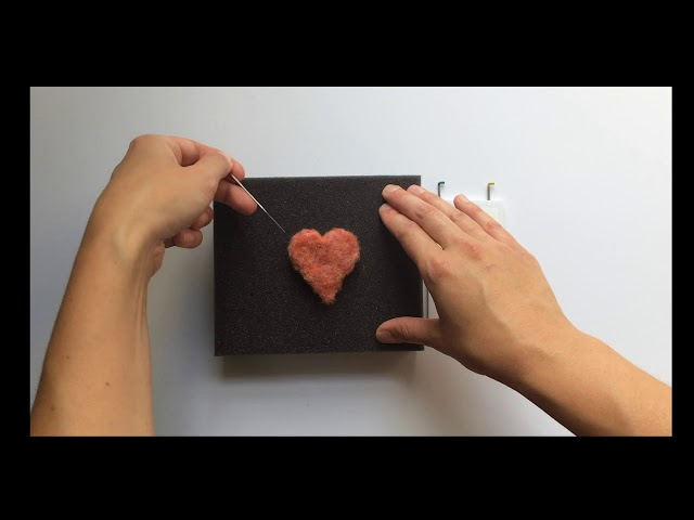 How to Make a Heart - Grey Fox Felting Video Tutorial - Part 5