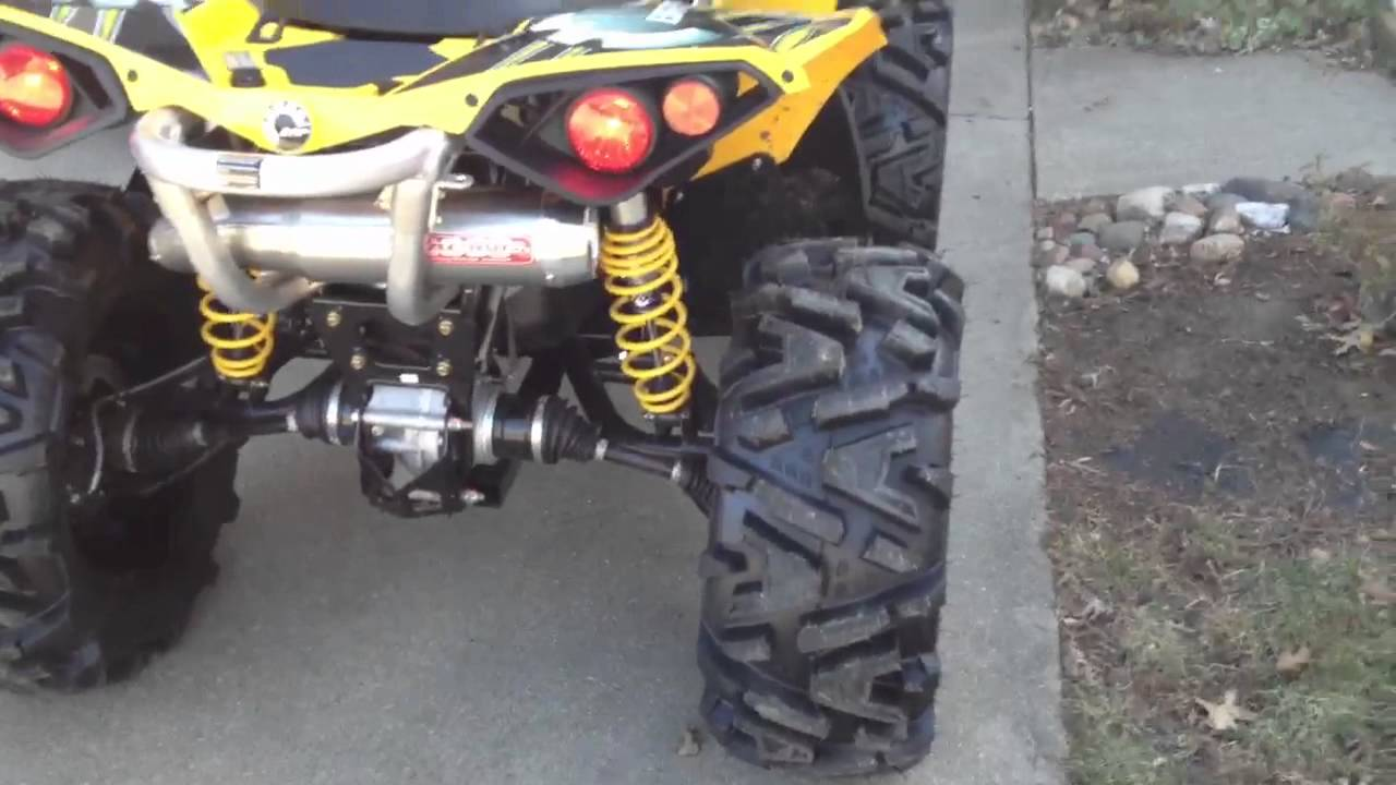 Can Am Renegade 800 >> Renegade 1000 Ron Woods exhaust - YouTube