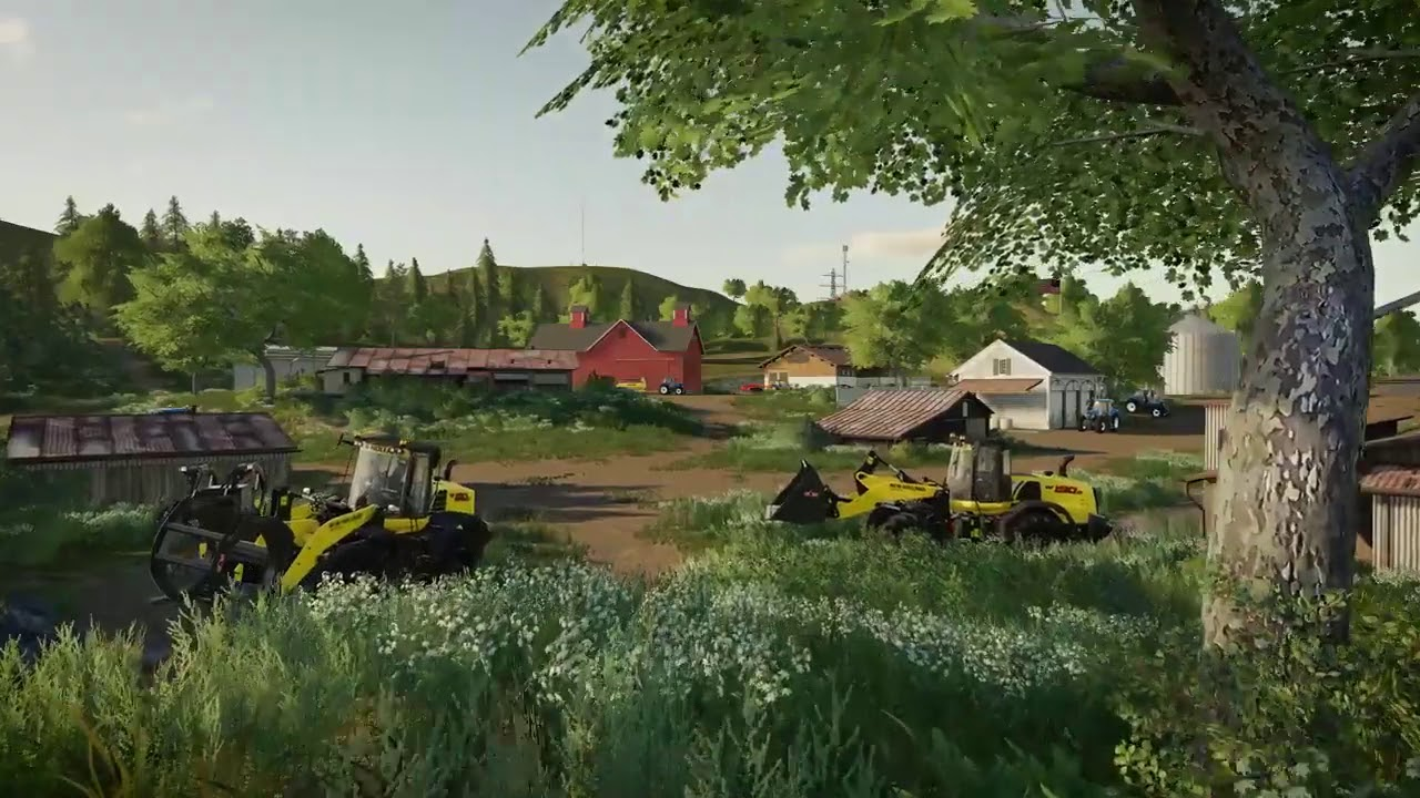 Farming simulator 2020 android NEW HOLLAND machines trailer(NEW)