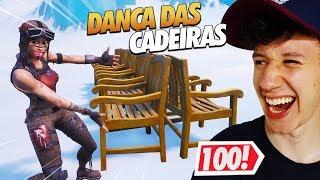 DANÇA DAS CADEIRAS COM 100 JOGADORES - FORTNITE