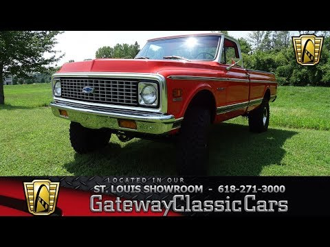 1971 Chevrolet K10 4WD Stock #7811 Gateway Classic Cars St. Louis Showroom
