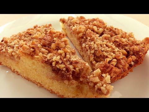 Apple cinnamon and walnut cake recipe