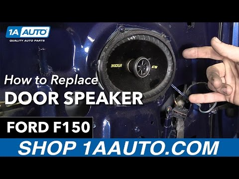 How To Replace Door Speaker 97 04 Ford F150 Youtube