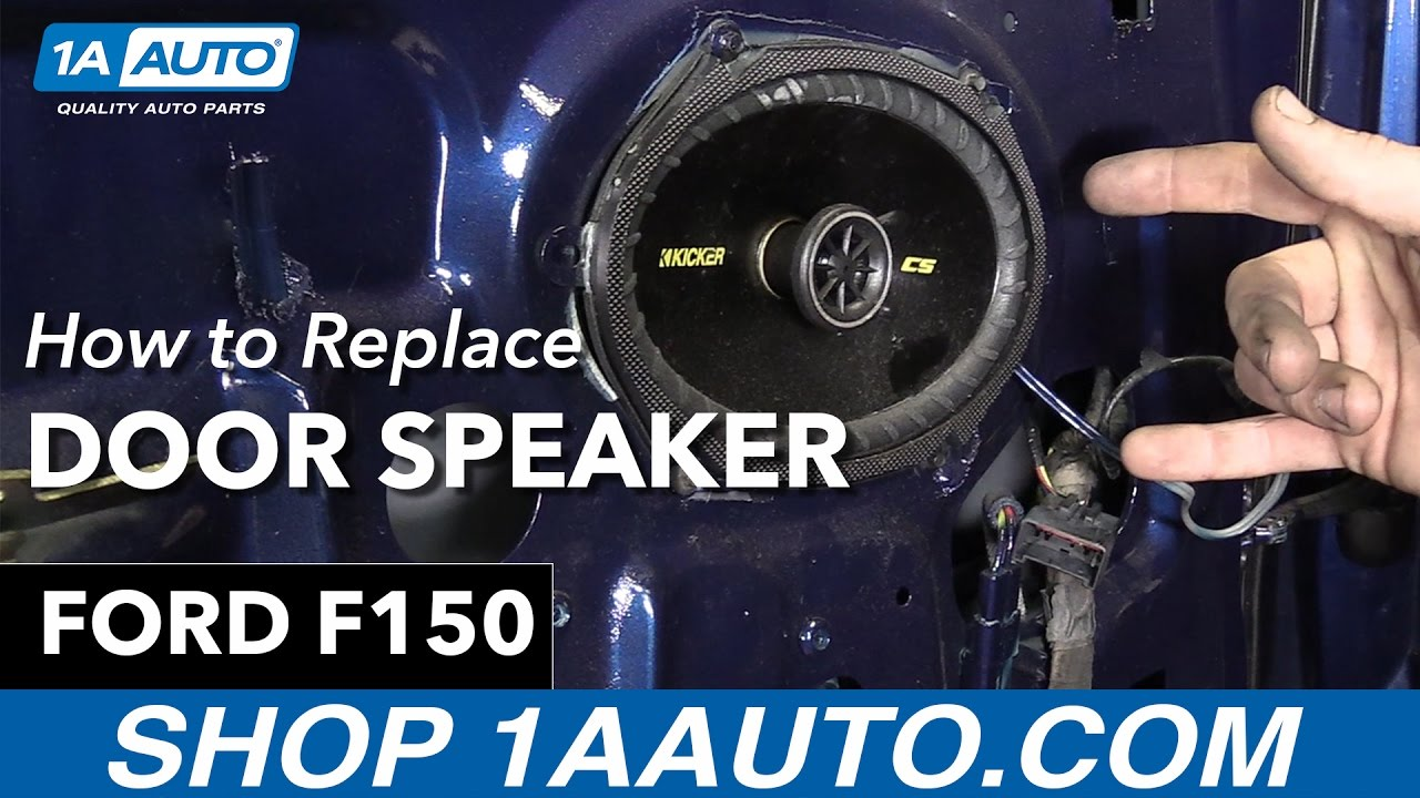 How To Replace Door Speaker 9704 Ford F150  YouTube