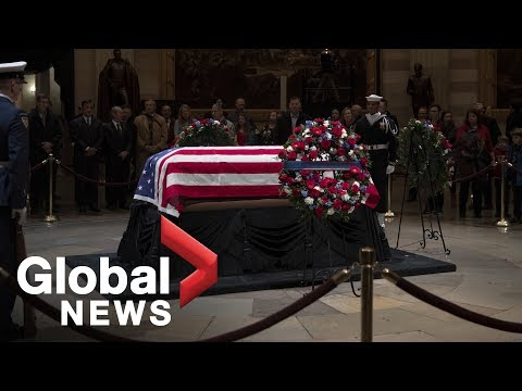 Former U.S. President George H.W. Bush lies in state in Washington, DC