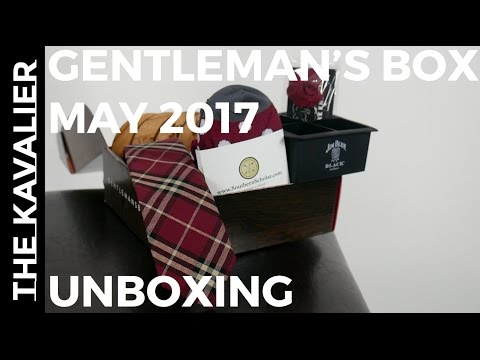 First Look: Gentleman's Box May 2017 Unboxing - Jim Beam Black Collaboration - 동영상