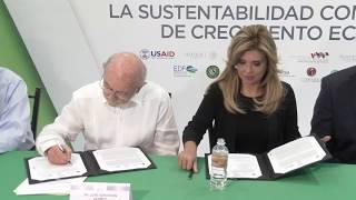 Firma Gobernadora convenios para la sustentabilidad