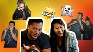 Reaction Video | Reacting To Ellen Haunted House adventure Ariana Grande