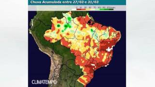Como fica a chuva em Brasília até o fim de março?