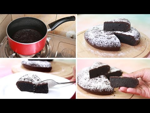 2 Ingredients Chocolate Cake In Sauce Pan | Yummy | Easy Chocolate Cake Recipe