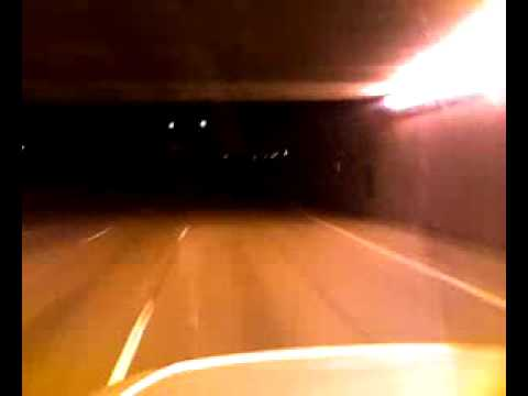 I-696 tunnel of light Michigan - truck driver