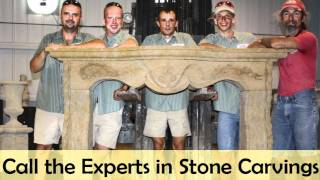 Fireplaces Hand Carved With Natural Stone And Custom Designed For Sarasota And Venice, Florida