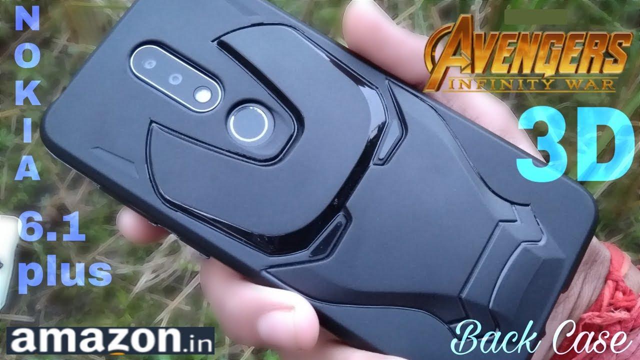 outlet store 0f8a7 8e6c8 Nokia 6.1 plus Avengers Edition back case | IRON MAN Face case | New case  2018