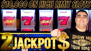 $10,000 On High Limit Slot Machines & 2 Handpay Jackpots | Live Slot Play In Las Vegas At The Cosmo
