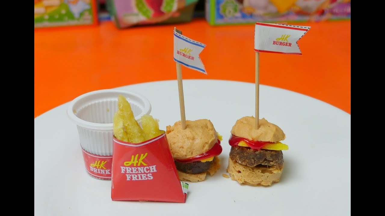 Kawaii Kracie Happy Kitchen - Mini Burger & French Fries ...