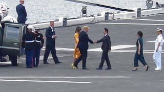 トランプ米大統 護衛艦「かが」フライトデッキ離着艦の様子 2019年5月28日 thumbnail