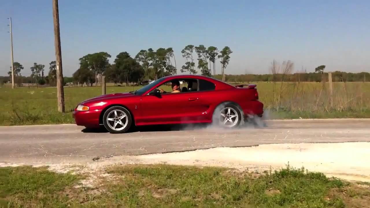 Red 98 Mustang Cobra Burnout Youtube