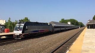 NJ Transit HD 60fps: Raritan Valley Line Evening Rush Hour Action @ Cranford Station 5/25/16