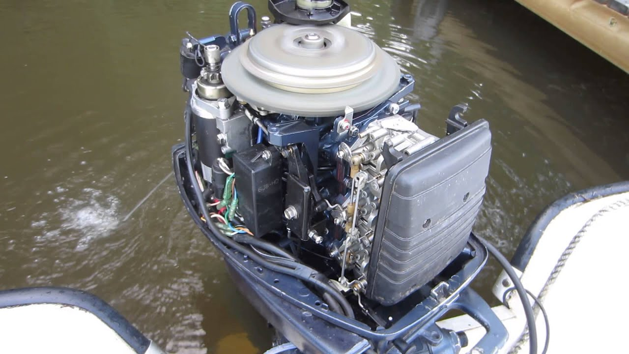 Yamaha 30 hp 2 stroke idling youtube for 30 hp yamaha outboard