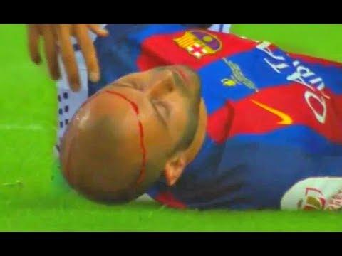 Javier Mascherano HORRIBLE Injury Barcelona vs Alaves 3-1 COPA DEL REY lesion de mascherano
