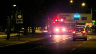 B-3 y Q-2 C.B.Ñ a 10-0. Fire Trucks Responding to Working Fire