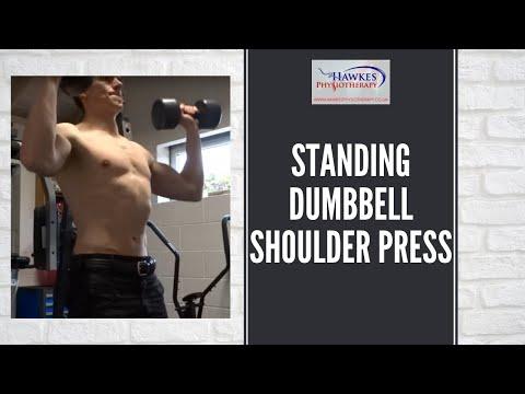 Standing Dumbbell Shoulder Press: Technique video