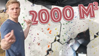 NEW MEGA CLIMBING GYM DAYS BEFORE THE OPENING!