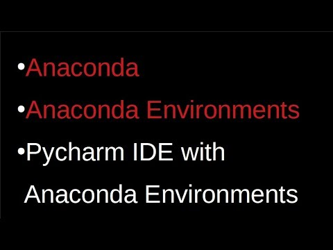#1 Anaconda & Anaconda Environments