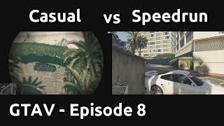 Casual VS Speedrun in GTAV #8 - Blitz Play Players