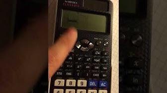 Statistik einstellen, Mittelwert, Medianwert, Standardabweichung Casio FX 991DE X, Taschenrechner