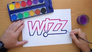 How to draw the Wizz air logo