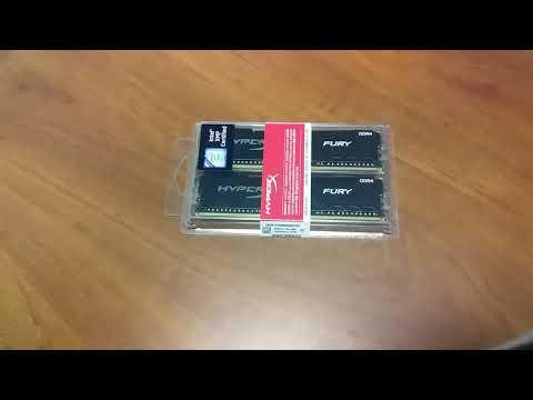 Оперативна пам'ять HyperX DDR4-3200 32768MB PC4-25600 (Kit of 2x16384) Fury Black (HX432C16FB3K2/32)