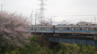 2019.4.12サクラ満開!名鉄犬山線を快走地下鉄鶴舞線乗り入れ車3050系